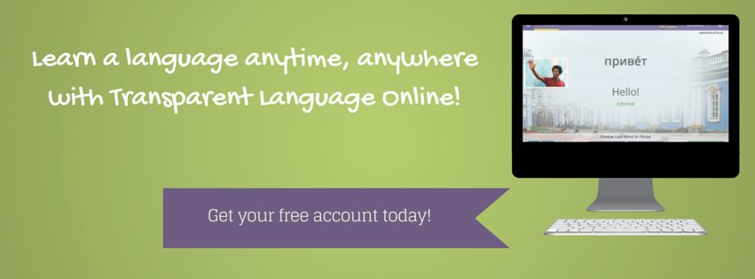 Learn a language anytime, anywhere with Transparent Language online
